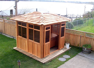 Pacific 8x8 Is A Basic Sized And Fully Enclosured Spa Hot Tub Gazebo With Hip Roof Design It Is Designed Very Streamline And Sturdy