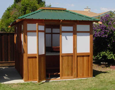 22 model hot tub gazebos kits for Spa gazebo kits